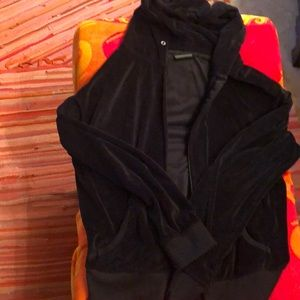 Black velvet 1XL Juniors jacket zipper hoodie